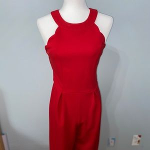 Red power jumpsuit